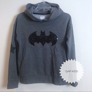 NWOT Gap Kids + Junk Food Girls Batman Hoodie S